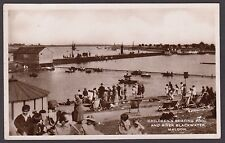 Postcard Maldon near Chelmsford Essex the Boating Pool posted 1935 RP
