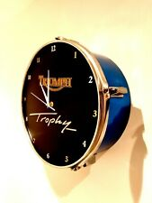 Triumph trophy motorcycles Upcycled Drum Clock) *