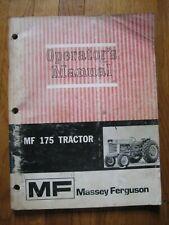 Massy Ferguson MF 175 tractor operators manual ORIGINAL