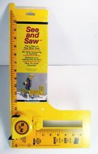 Miter Gauge See & Saw Put a Tape on Your Miter Saw! No more measuring or marking