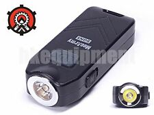 MecArmy SGN5 Self-Defense Siren Alarm USB Rechargeable Keychain Flashlight Black