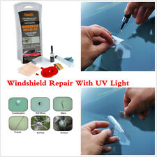 Car Window Glass Windshield Scratch Crack Repair Polishing Kit With UV Light