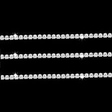 White Netting on 1 side 9 Metres Rhinestone Banding Insertion Trim