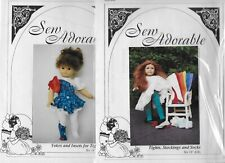 "Sew Adorable Patterns Tights & Yokes for 18"" Dolls New Uncut"