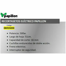 Recortasetos Papillon 500 w. Hoja 510 mm.