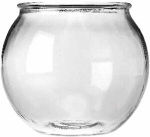 Anchor Hocking Glass Round Fish Bowl  1/2 Gallon