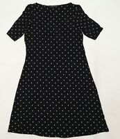 Marks and Spencer Womens Black Polka Dot  Fit & Flare  Size 10
