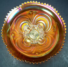 Antique Imperial Glass Carnival Pumpkin Scroll Embossed Deep Bowl ~ Perfect