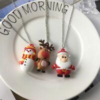 2020 Christmas Cute Elk Snowman Santa Claus Pendant Fashion Necklace Jewelry New