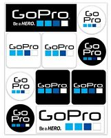 Set 10 PVC Vinyle Autocollants GoPro Be A Hero Caméra Stickers Voiture Moto Auto
