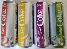 NEW 2018 Diet Coke 4 Pack Lime/Orange/Mango/Cherry Soda 12 Oz Cans FREE SHIPPING