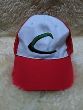 Pokemon ASH KETCHUM Trainer Cosplay Cap Red Hat Embroidered Logo