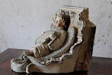 Console d'applique terre cuite pour statue décor d' ange XIXe Siècle