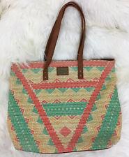 O'NEILL Tote Hand Bag Purse Colorful Boho Chevron