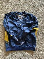 Vintage 90s Nike Yellow And Blue Jacket Mens Size Medium/Large