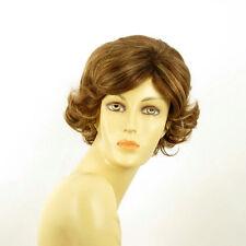 short wig for women curly brown copper wick light blond ref VALENTIA 6bt27 PERUK