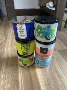 Bath and body works 3 wick candle Lot X6