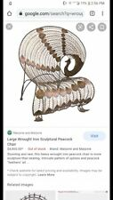 New listing wrought iron vintage peacock chair