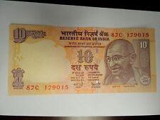 2008 India Ten (10) Rupees Note
