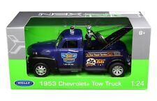 Welly 1/24 1953 Chevrolet Tow Truck Highway 66 Diecast Model Car Blue (22086)