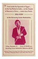 Paul Horn Poster 1980 December 12 Humboldt University Arcata