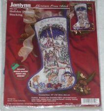 "NEW ~ Janlynn Christmas HOLIDAY DREAMS STOCKING 16"" Cross Stitch Kit #80-310"