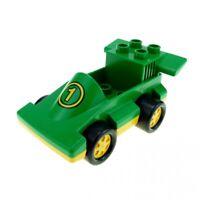 1x Lego Duplo Fahrzeug Rennwagen grün gelb Auto PKW Nr.1 2674 2599 duploracer01