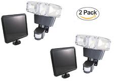 2PACK Triple Heads 180 Degree Ultra Bright Outdoor Solar Motion Sensor Light