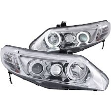 FOR HONDA CIVIC 06-11 2DR PROJECTOR HEADLIGHTS HALO CHROME CLEAR (CCFL) Pair