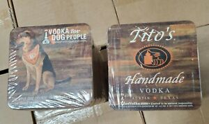 Tito's Handmade Vodka Coasters 125 Pieces Disposable dogs for people