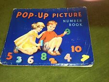 pop up picture book - number book .illustrated by highham