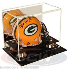 1 BCW Football Mini Helmet Holder Deluxe Acrylic Display Case mirror back