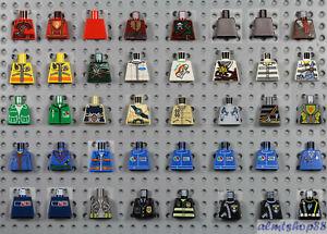LEGO - 40x Minifigure Torsos Assorted Lot - City Town Castle Body Parts #22c