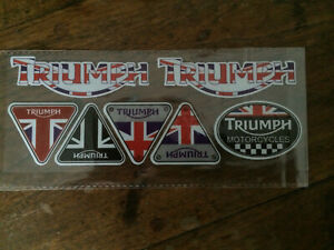 Triumph Reflective Motorcycle Stickers