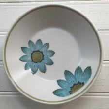 Noritake Progression Up Sa Daisy Fruit Dessert Bowl Blue Flowers Vintage Japan