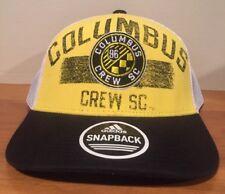 dedce8d79b0 adidas Columbus Crew SC Soccer MLS Mesh Trucker Snapback Hat Cap Men's