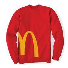 McDonalds Golden Arches Crewneck Sweatshirt - Red - Large - New