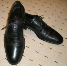 Bruno Magli Lace-Up Cap Toe Oxfords. Black, Size 9.5M, Made in Italy