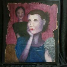 "Original African American Painting  Late 60s, Savannah Ga. Large 25"" x 30"""