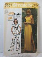 Simplicity Pattern 5667 Jiffy Knits Miss Sz 16 Dress Tunic Pants New 1973 Vintag