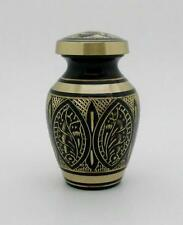 "Solid Brass 3"" Hand Crafted Artisian Memorial Cremation Keepsake Funeral Urn NIB"