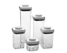 OXO Dry Food Storage Containers 5-Piece Set BPA Free Push Button Airtight Lid