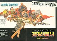 Shenandoah (1965) James Stewart, Doug McClure, Glenn Corbett   pressbook