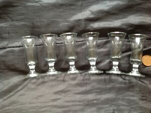 6 Small Sherry Glasses