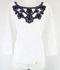 2x Charter Club Plus Size Lace 34-sleeve Blouse Bright White 1165
