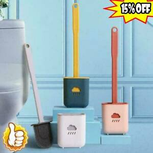 Silicone Toilet Brush With Holder Bathroom Cleaning Brush Sets