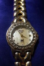 RELIC WET by FOSSIL LADIES TWO TONE STAINLESS WATCH CRYSTAL BEZEL MOP FACE