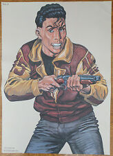 "VINTAGE POLIZIA ""Law Enforcement"" SHOOTING target POSTER 1995 TV I CACCIATORI DI REALIZZO!"