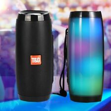 Bluetooth speaker 10W led lighting wireless portable column outdoor subwoofer