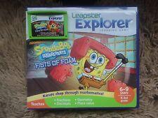 Leapfrog Leapster Explorer SPONGE BOB GAME CASE Leap Pad 2,3,GS, XDi Ultra